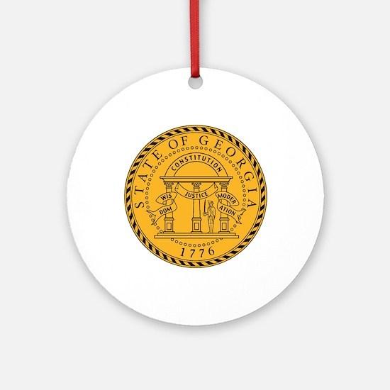 Seal of Georgia Round Ornament