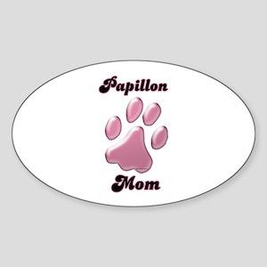 Papillon Mom3 Oval Sticker