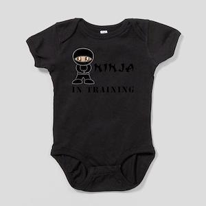 Brown Eyes Ninja In Training Infant Bodysuit Body