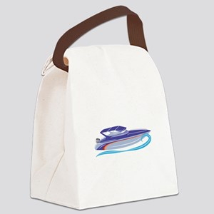 Speed Boat Canvas Lunch Bag