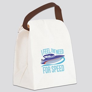 Need Speed Canvas Lunch Bag