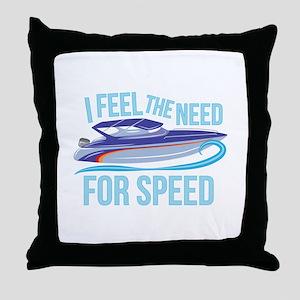 Need Speed Throw Pillow