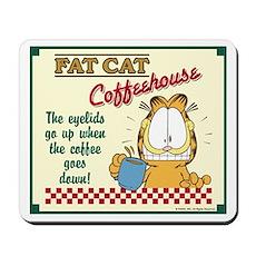 Coffeehouse Garfield Mousepad