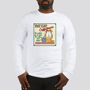 Coffeehouse Garfield Long Sleeve T-Shirt