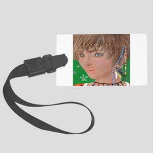 Hippie Chick Luggage Tag