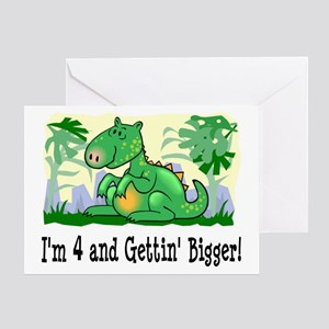 I'm 4 Dinosaur Greeting Card