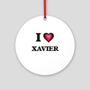 I love Xavier Round Ornament