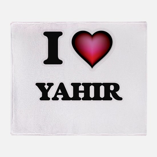 I love Yahir Throw Blanket