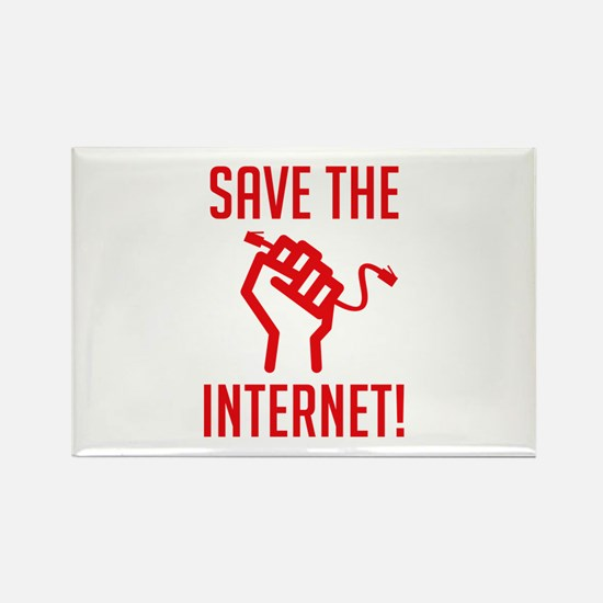 Save The Internet Rectangle Magnet