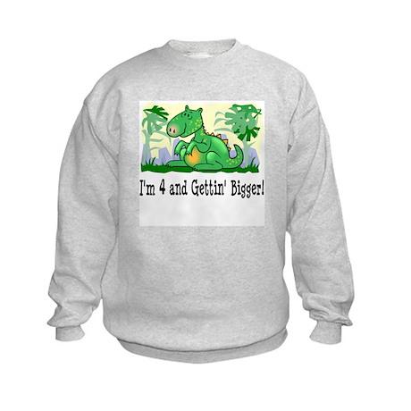 I'm 4 Dinosaur Kids Sweatshirt