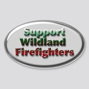 Firefighter Oval Sticker