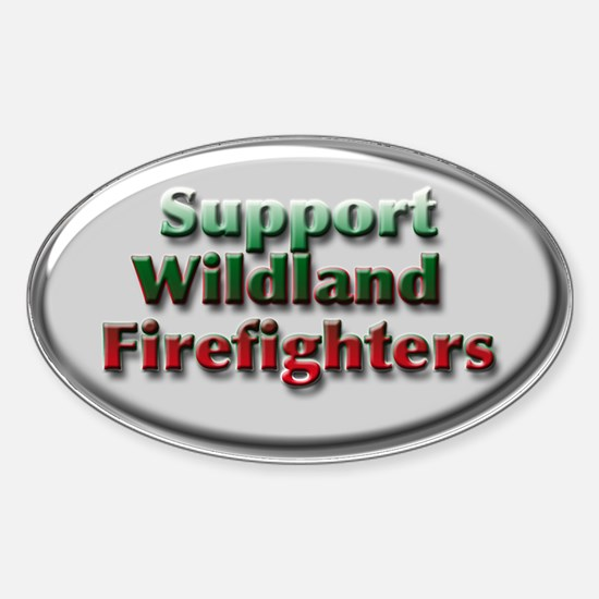 Firefighter Oval Decal