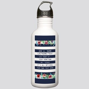 Custom Name Pretty Flo Stainless Water Bottle 1.0L