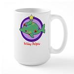 Holiday Dolphin Large Mug