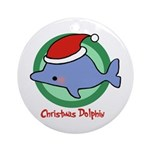 Holiday Dolphin Ornament (Round)