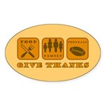 Give Thanks Oval Sticker