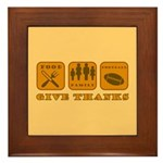 Give Thanks Framed Tile