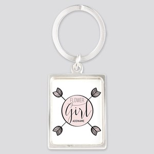 Flower Girl Personalized Portrait Keychain