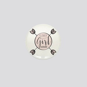 Flower Girl Personalized Mini Button