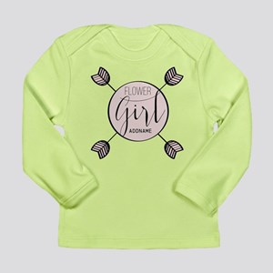 Flower Girl Personalize Long Sleeve Infant T-Shirt