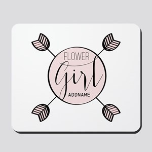 Flower Girl Personalized Mousepad