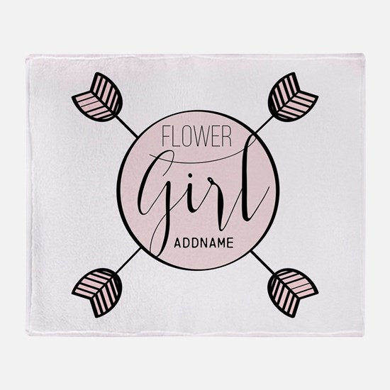 Flower Girl Personalized Throw Blanket