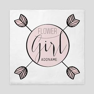 Flower Girl Personalized Queen Duvet