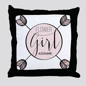 Flower Girl Personalized Throw Pillow