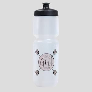Flower Girl Personalized Sports Bottle