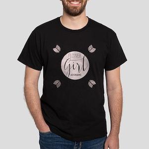 Flower Girl Personalized Dark T-Shirt