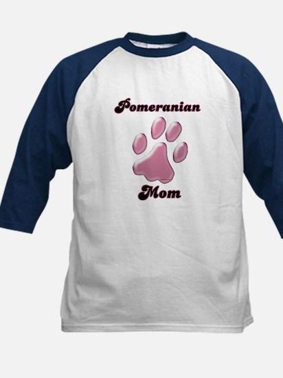 Pomeranian Mom3 Kids Baseball Jersey