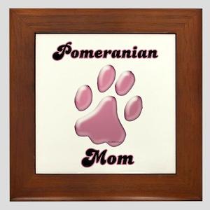 Pomeranian Mom3 Framed Tile