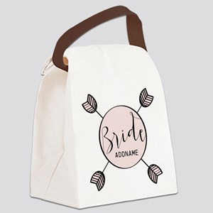 Script Bride Personalized Canvas Lunch Bag