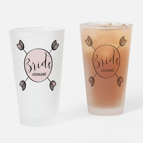Script Bride Personalized Drinking Glass