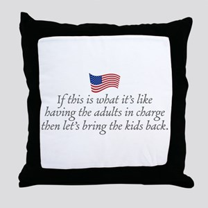 Let's bring the kids back. Throw Pillow