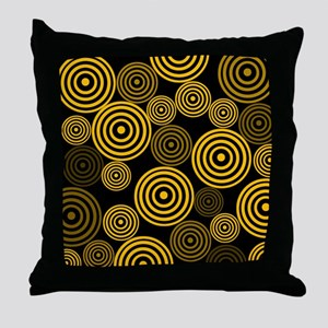 Yellow Circles Throw Pillow
