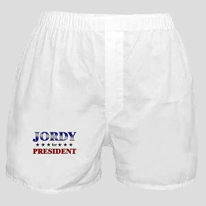 JORDY for president Boxer Shorts