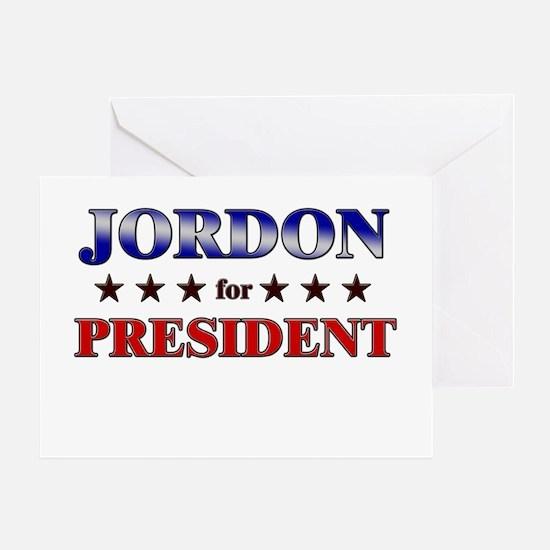 JORDON for president Greeting Card