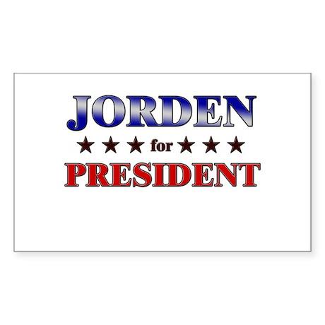 JORDEN for president Rectangle Sticker