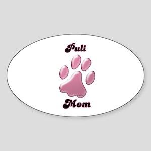 Puli Mom3 Oval Sticker