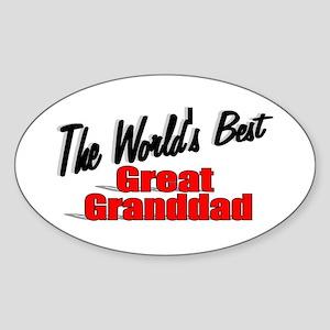 """The World's Best Great Granddad"" Oval Sticker"