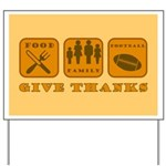 Give Thanks Yard Sign