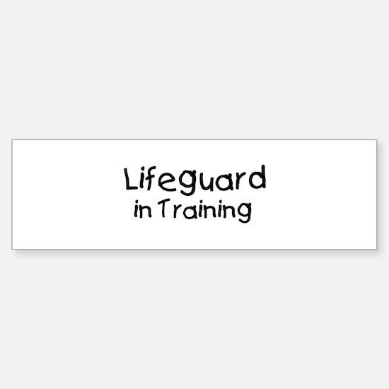 Lifeguard in Training Bumper Bumper Bumper Sticker