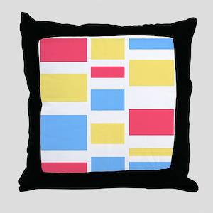 Pink Blue Yellow Throw Pillow