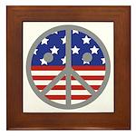 Unhappy Peace Framed Tile