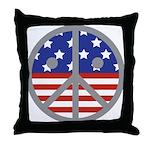 Unhappy Peace Throw Pillow