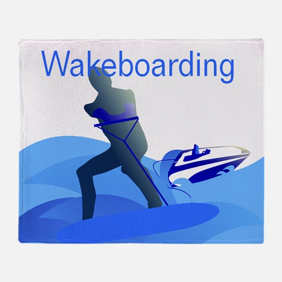 Wakeboarding Throw Blanket