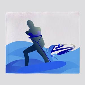 Wakeboarder Throw Blanket
