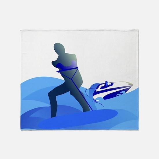 Wakeboarder Throw Blanket