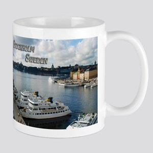 Stockholm Sweden Harbor Travel Mugs